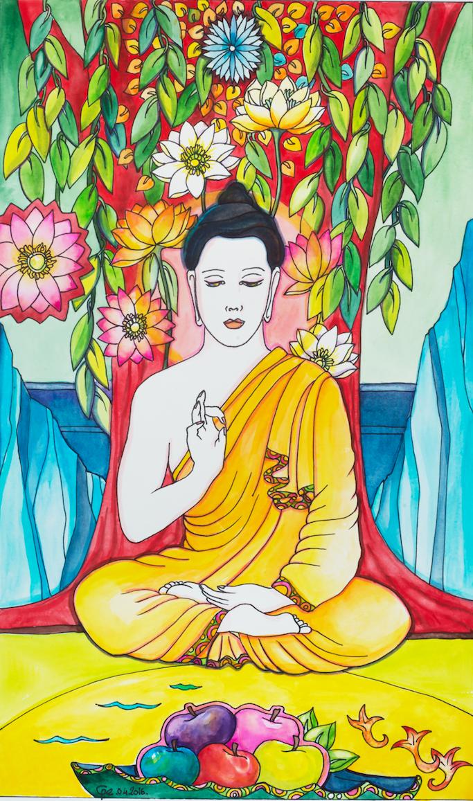 buddha bleu